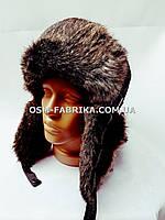 Теплая шапка-ушанка для мужчин хит сезона