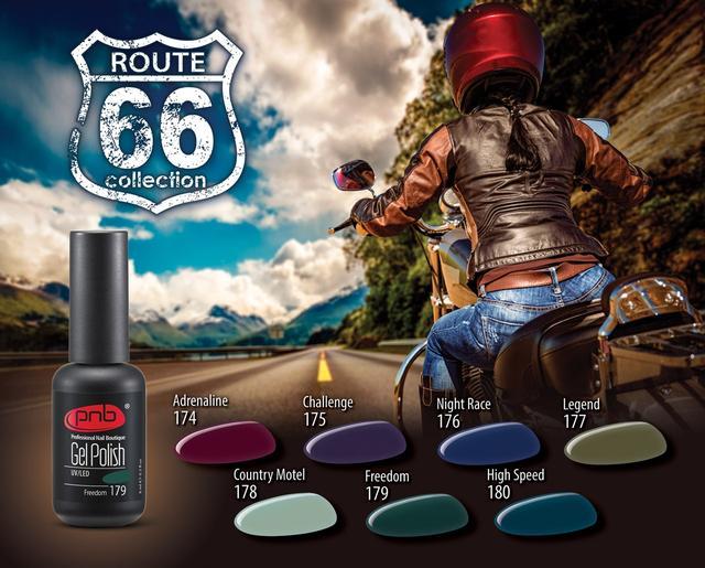 Новая коллекции гель-лаков PNB «ROUTE 66»