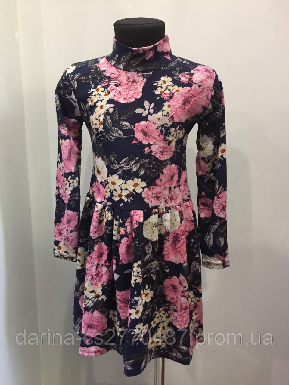 Платье для девочки с цветами 104,110,122 см