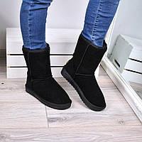 Угги женские UGG Высокие натуральная замша, зимняя обувь на стопу 23,5 см