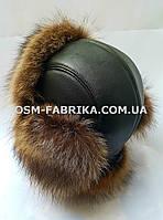 Теплая шапка для мужчин из меха енота хит продаж