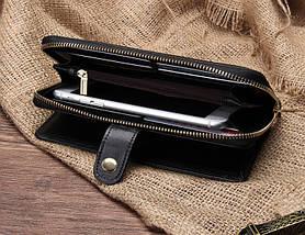 Женский кожаный клатч JoyIR(черний), фото 2