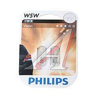 Лампа накаливания W5W12V 5W W 2,1X9,5d (blister 2шт) (производитель Philips) 12961B2