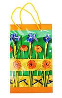 """Пакет подарочный """"Цветы"""" ламин. 16*26*7см PDF-1285"""