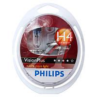 Лампа накаливания H4VisionPlus12V 60/55W P43t-38 (производитель Philips) 12342VPS2