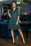 Стильное гипюровое женское платье миди (норма)