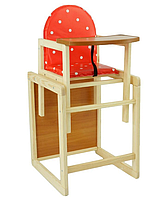 """Детский стульчик-трансформер для кормления №11 """"Горох"""""""