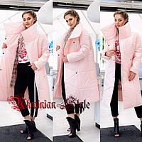 Женское персиковое пальто-одеяло. Хит сезона!