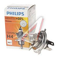 Лампа накаливания H4 12V 60/55W P43t-38 VISION (производитель Philips) 12342PRC1