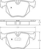 Колодка тормозной BMW/LANDROVER 3/7 ser.(E46/38)/X3/X5 задней (Производство ABS) 36715
