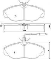 Колодка тормозной CITROEN/FIAT/PEUGEOT JUMPER/DUCATO/BOXER передний (Производство ABS) 36883