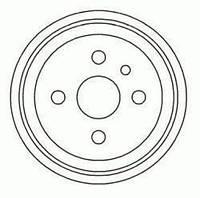 Барабан тормозная OPEL ASTRA/VECTRA заднего (производитель ABS) 5128-S