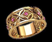 Кольцо Елегия с камнями
