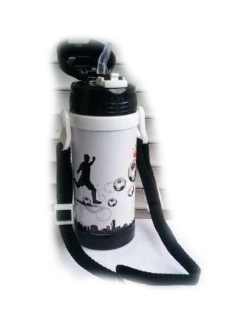 Вакуумный термос детский с трубочкой 320мл A-plus 1776 Black