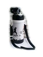 Вакуумный термос детский с трубочкой 320мл A-plus 1776 Black, фото 1