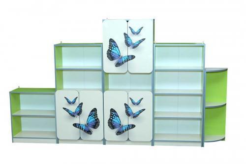 """Стенка детская """"Бабочки"""", Мебель для детского сада Чернигов"""