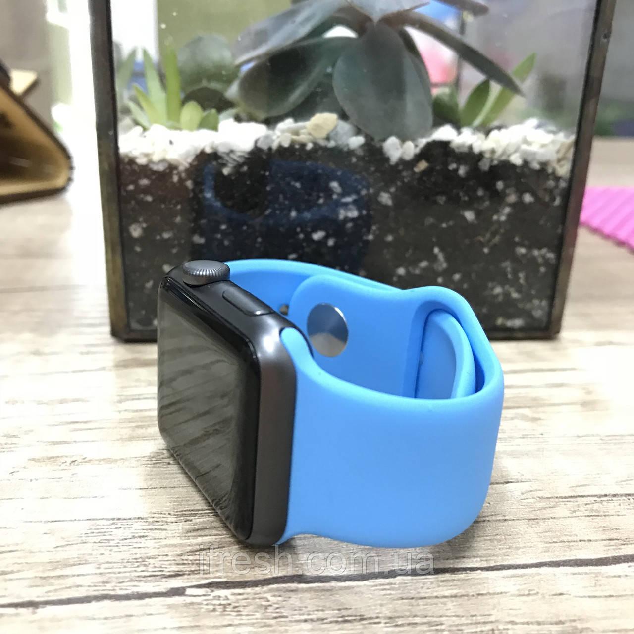 Ремешок для Apple Watch 42mm, голубой, LIGHT BLUE