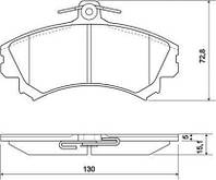 Колодка тормозная MITSUBISHI/VOLVO SPACE/S40/V40 передний (производитель ABS) 36919