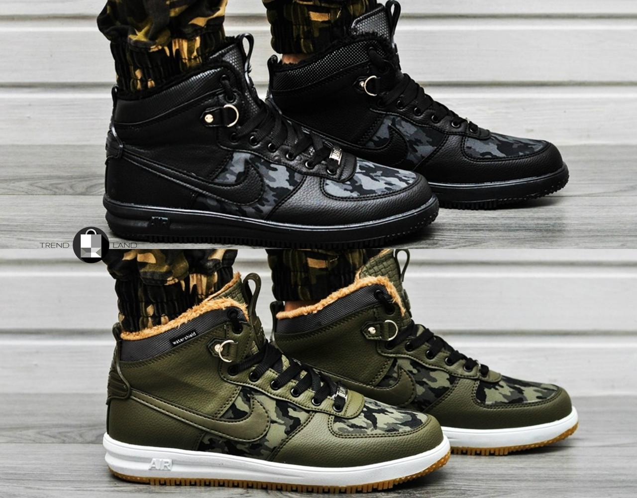 Мужские зимние кроссовки Nike Lunar Force 1 Duckboot Military 2 цвета  (Реплика AAA+) - c47760f4214