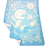 Детское жаккардовое одеяло из хлопка 100х140 см, детские оделя из хлопка оптом от производителя