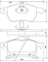 Колодка тормозной OPEL ASTRA/ZAFIRA передний (Производство ABS) 37076