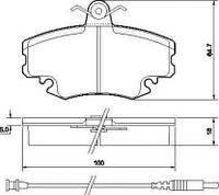 Колодка тормозная PEUGEOT/RENAULT 205/309/CLIO/EXPRESS передний (производитель ABS) 36881