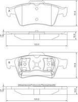 Колодка тормозная RENAULT/SAAB/VOLVO заднего (производитель ABS) 37216