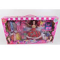 Кукла с нарядом C22-A1 27 см, платья 10 шт, обувь, трюмо, заколочка