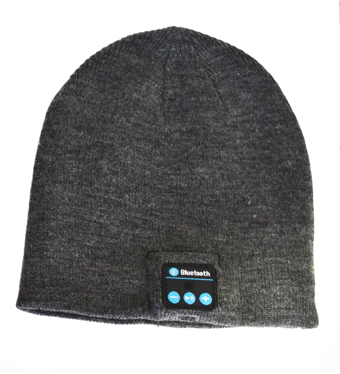 Шапка с Bluetooth 3.0 гарнитурой (Music Hat) Grey