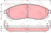 Колодка тормозной NISSAN MAXIMA передний (Производство TRW) GDB3124