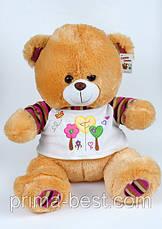 Мягкая игрушка  Медведь(футболка с цветком), фото 3