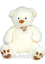 Музична м'яка іграшка великий білий ведмедик
