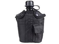 Пластиковая фляга 1л в чехле MilTec Black 14505002