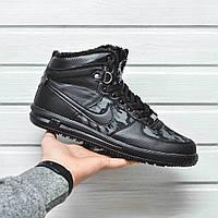 Мужские зимние кроссовки Nike Lunar Force 1 Duckboot Military черный цвет