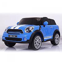 Детский электромобиль Mini Cooper JJ 2258 EBLR-4 ,EVA колеса,кожаное сиденье
