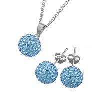Ювелирный набор Фортуна со светло-голубыми кристаллами Сваровски 000005274