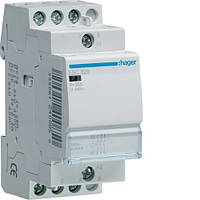 Модульный контактор 25А 3НО 230В Hager