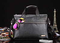 Мужская кожаная сумка-портфель POLO   2 цвета, фото 1