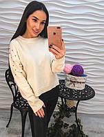 Женский модный вязаный свитер (2 цвета)