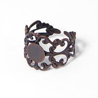 Основа для кольца латунь, филигранная, цвет медь УТ100006099