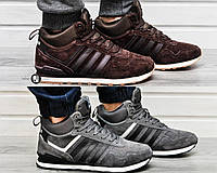 Мужские зимние кроссовки Adidas NEO New с натуральным мехом