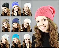 Женская шапка с меховым помпоном №2113