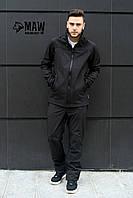 Soft Shell мужской горнолыжный костюм на флисе влагоустойчевый MAW man&wolf