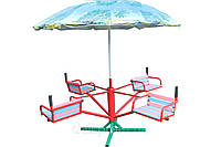 Карусель четырёхместная с зонтом КР-603, фото 1
