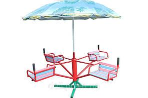 Карусель чотиримісна з парасолькою КР-603