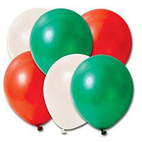 Воздушные шары красный зеленый белый 6 шт.