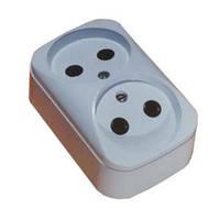 Колодка  электрическая двухместная 2РА10-187с б/пл, 2РА10-210 с полиамидной пластиной