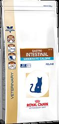 Royal Canin Gastro Intestinal Moderate Calorie 2 кг -  диета с умеренным содержанием энергии для кошек