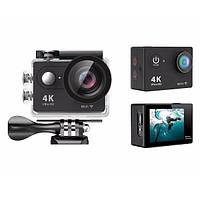 🔝 Экшн камера, Eken H9R ULTRA HD 1080p, 4K + WiFi, водонепроницаемая, с пультом   🎁%🚚