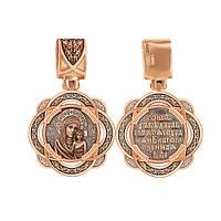 Ладанка из красного золота Казанская Божия Мать 000012200